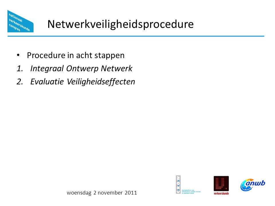 woensdag 2 november 2011 Integraal Ontwerp Netwerk Kernenmethode Verbinden van alle kernen