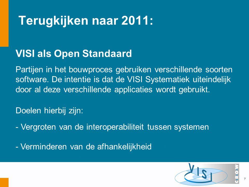 Terugkijken naar 2011: VISI als Open Standaard Partijen in het bouwproces gebruiken verschillende soorten software.