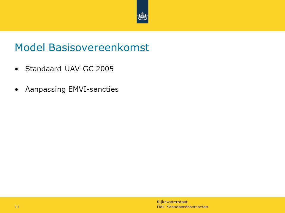 Rijkswaterstaat D&C Standaardcontracten11 Model Basisovereenkomst Standaard UAV-GC 2005 Aanpassing EMVI-sancties