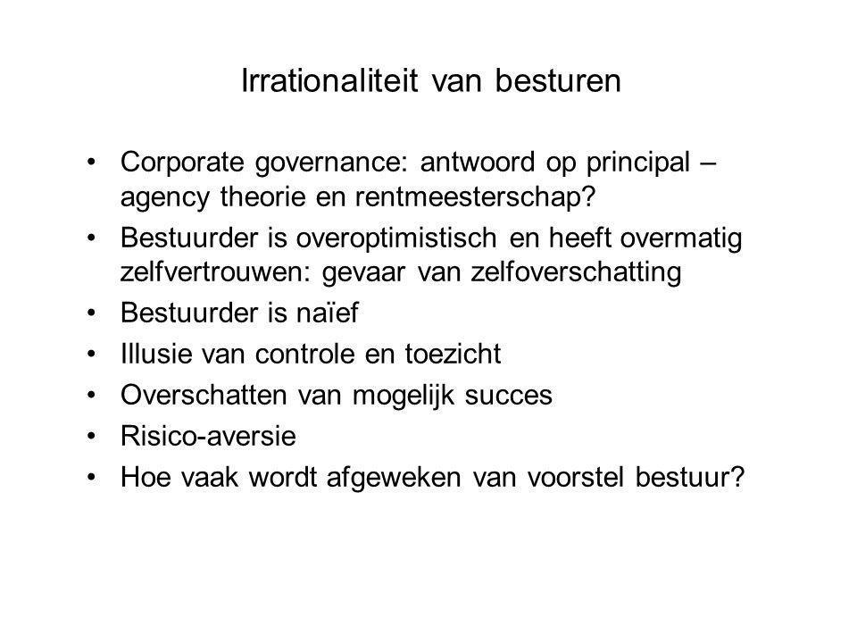 Corporate governance: antwoord op principal – agency theorie en rentmeesterschap.
