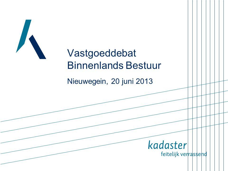 Vastgoeddebat Binnenlands Bestuur Nieuwegein, 20 juni 2013