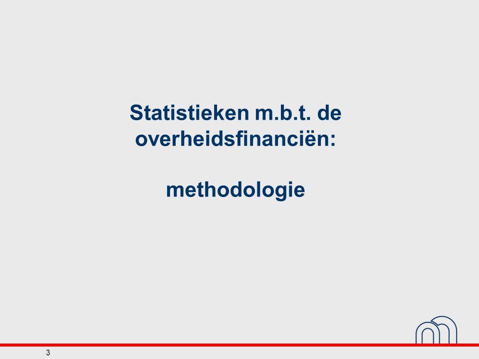 Statistieken m.b.t. de overheidsfinanciën: methodologie 3
