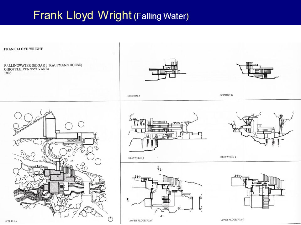 Frank Lloyd Wright (Falling Water)