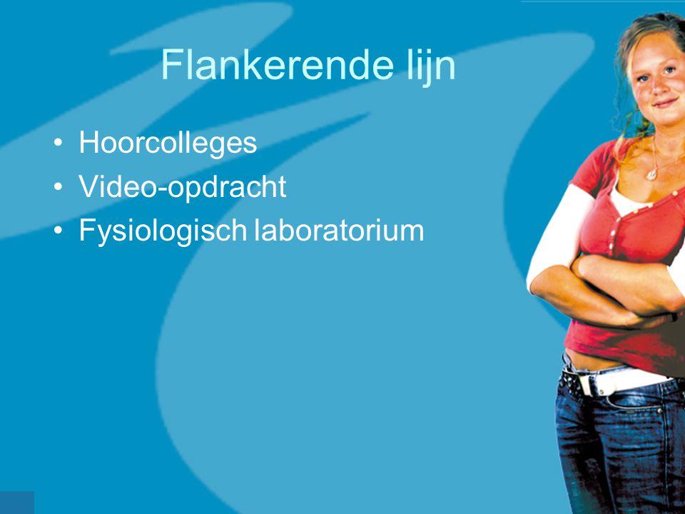 werkveldconferentie maart 2006 Flankerende lijn Hoorcolleges Video-opdracht Fysiologisch laboratorium