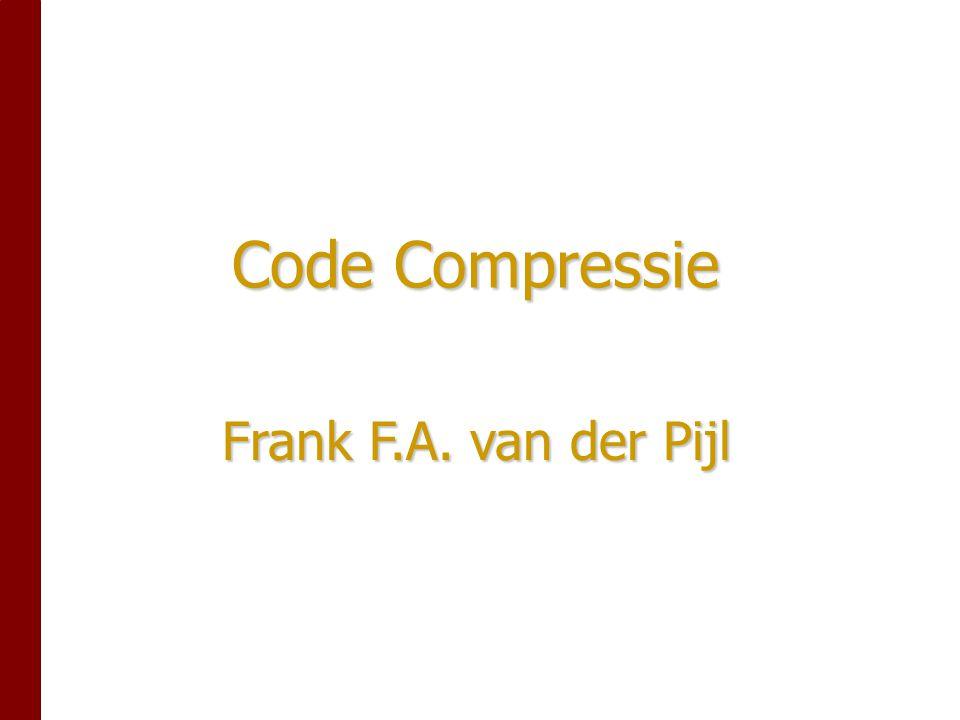 Code Compressie Frank F.A. van der Pijl