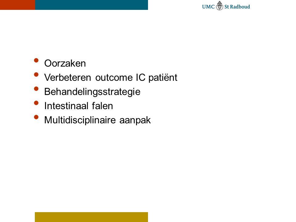 Oorzaken Verbeteren outcome IC patiënt Behandelingsstrategie Intestinaal falen Multidisciplinaire aanpak