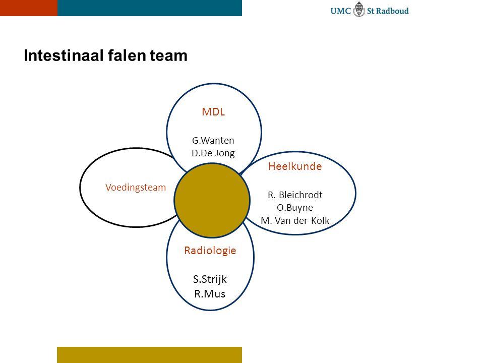 Intestinaal falen team Voedingsteam MDL G.Wanten D.De Jong Heelkunde R.