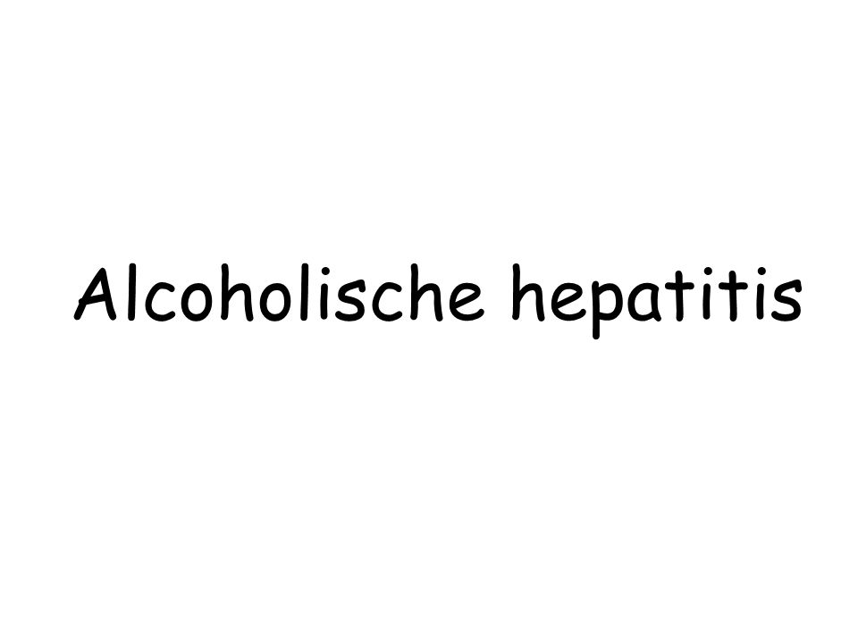 Alcoholische hepatitis