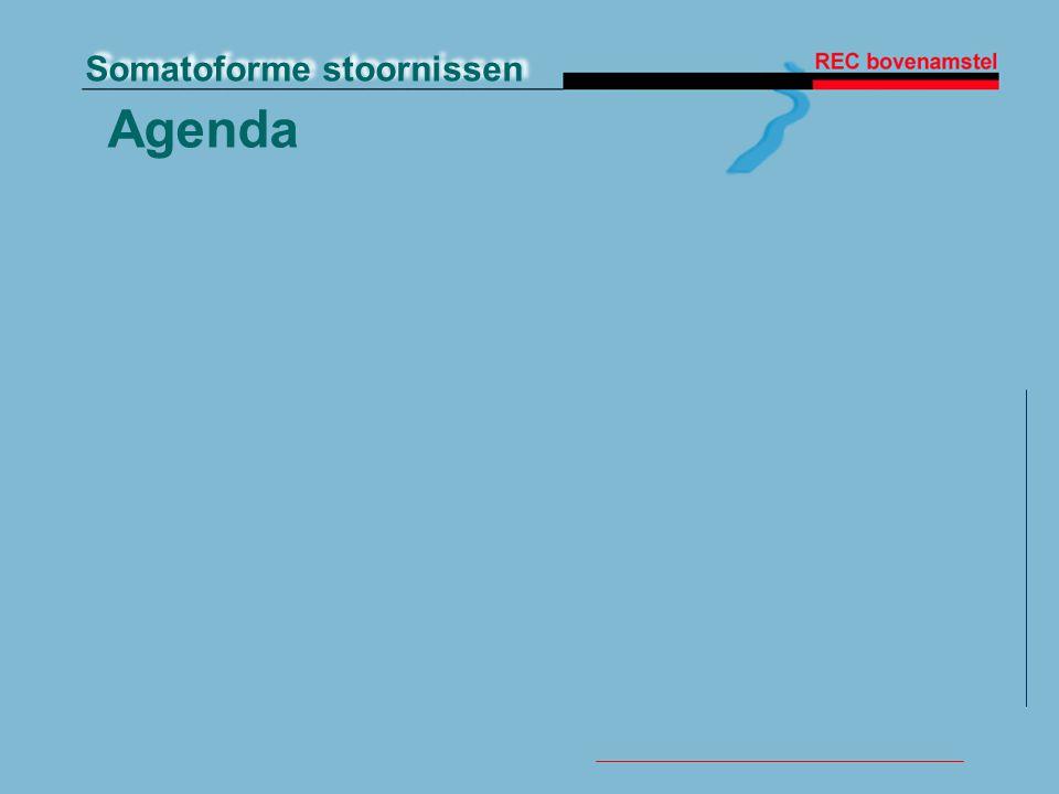 Somatoforme stoornissen Agenda