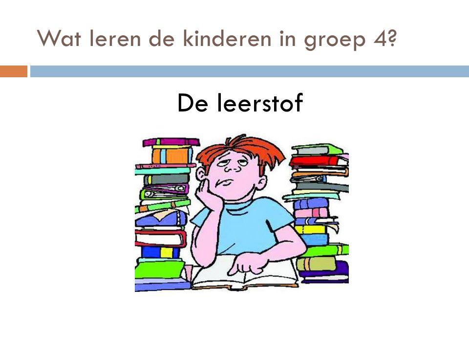 Wat leren de kinderen in groep 4? De leerstof