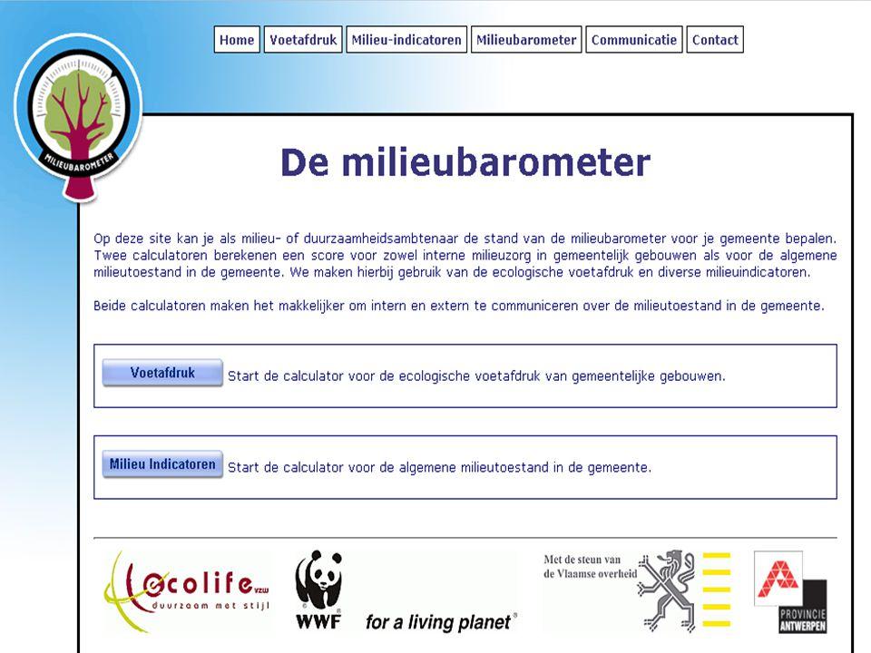 http://www.ecolife.be/milieubarometer http://www.ecolife.be/milieubarometer Gebruikersnaam: test wachtwoord: test Aan de slag!