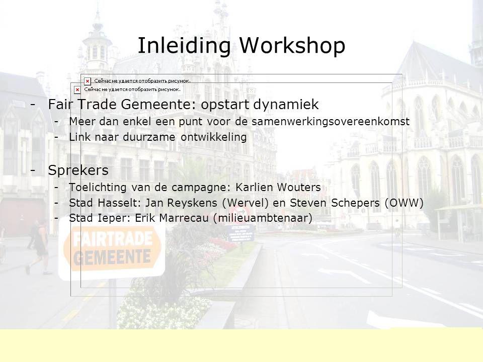 FairTradecampagne Ieper: criteria  1.