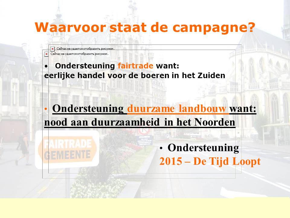 FairTradecampagne Ieper: criteria  5.TREKKERSGROEP 21 mensen, met 7 actieve medewerkers Ong.