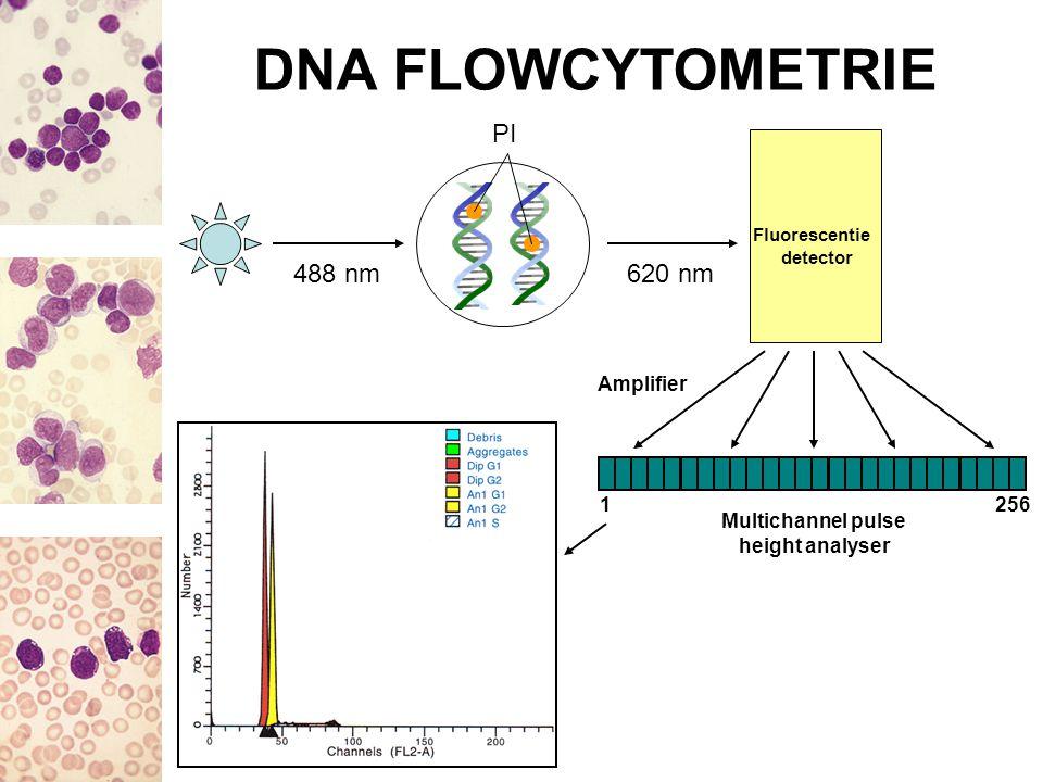 RETROSPECTIEVE ANALYSE Resultaten DNA-analyse vergelijken met de karyotypering Slechts 82 stalen tussen januari 1998 – maart 2005 DNA-analyse praktisch altijd op beenmerg uitgevoerd, slechts in 2 gevallen op perifeer bloed Karyotypering: (vermoedelijk) altijd op beenmerg