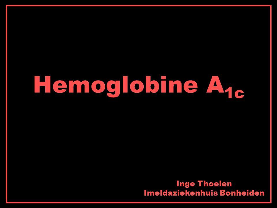 Hemoglobine A 1c Inge Thoelen Imeldaziekenhuis Bonheiden