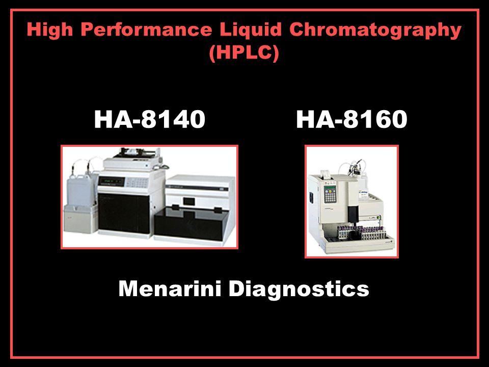 High Performance Liquid Chromatography (HPLC) HA-8140HA-8160 Menarini Diagnostics