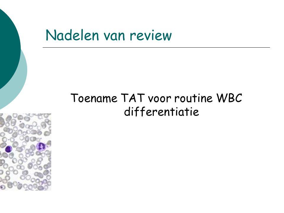 Nadelen van review Toename TAT voor routine WBC differentiatie