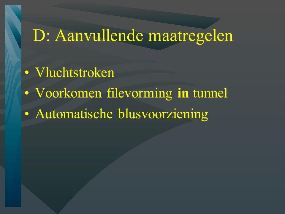E: Veiligheidsorganisatie Veiligheidsbeheersysteem: Verkeersmanagement Incidentmanagement Instandhouding (inspectie, onderhoud) Opleiding en oefening