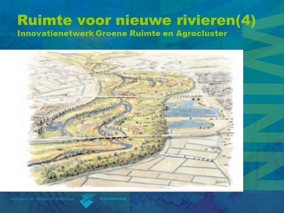 Ruimte voor nieuwe rivieren(4) Innovatienetwerk Groene Ruimte en Agrocluster