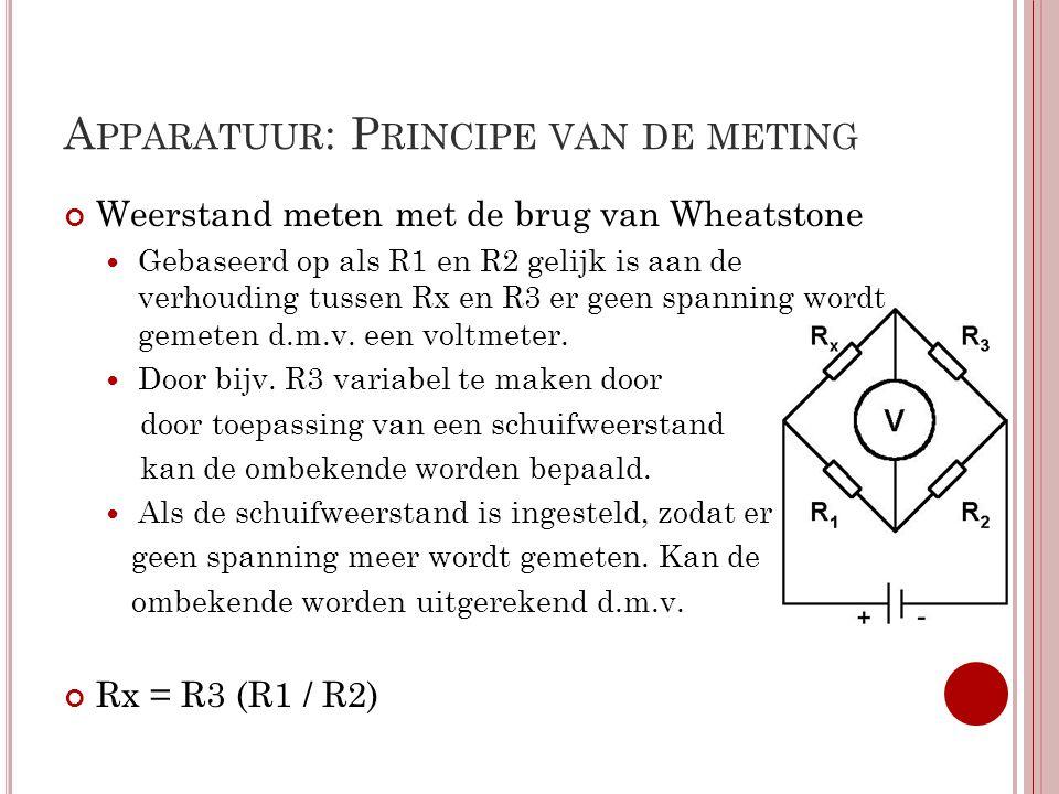 W ET VAN O HM De stroomsterkte door een geleider is recht evenredig met het potentiaalverschil tussen de uiteinden.