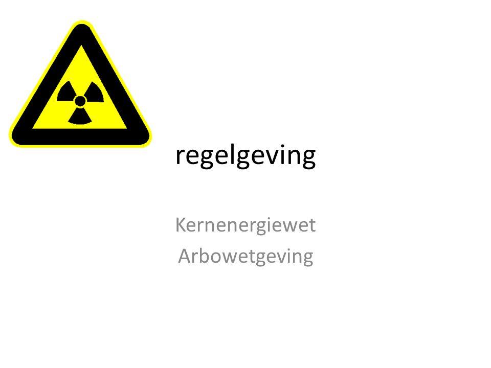 regelgeving Kernenergiewet Arbowetgeving