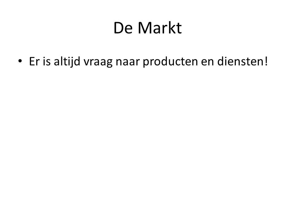 De Markt Er is altijd vraag naar producten en diensten!