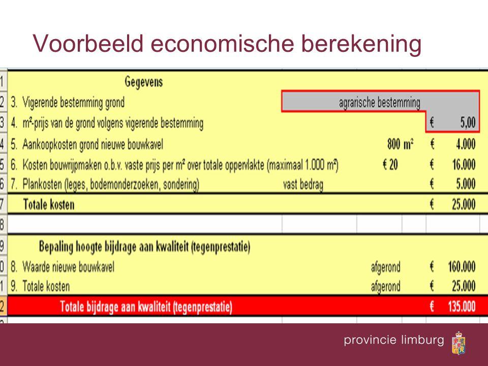 Voorbeeld economische berekening