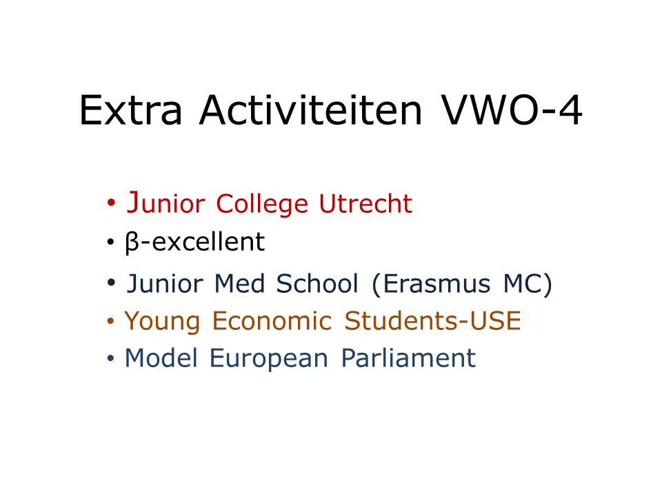 Selectie in V4 extra stof voor talentvolle leerlingen die economie willen gaan studeren in V5 en V6