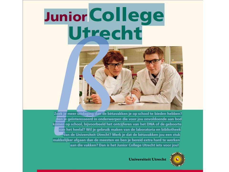 Maximaal 4 leerlingen kunnen hieraan deelnemen Selectie in VWO-4 In V5 en V6 volgen leerlingen op maandag en dinsdag speciaal β-programma in Utrecht