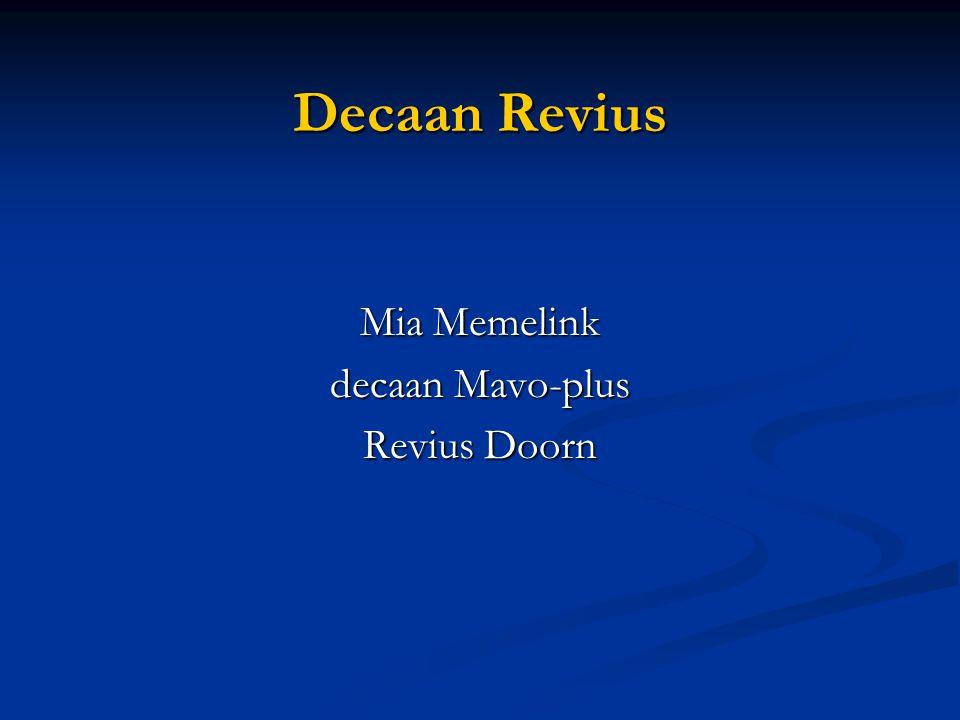 Decaan Revius Mia Memelink decaan Mavo-plus Revius Doorn