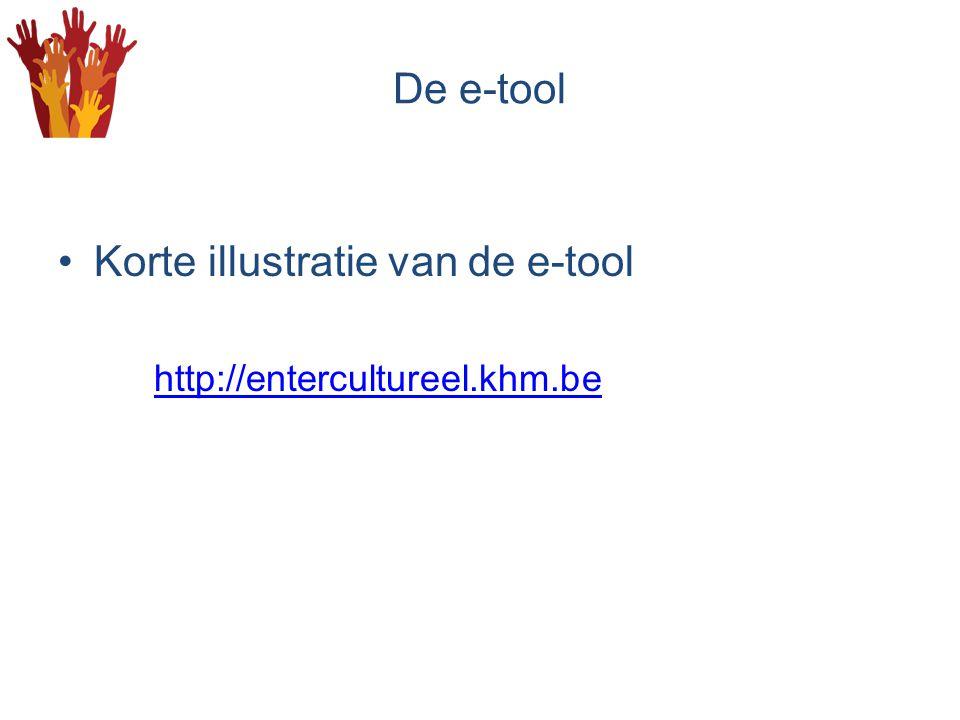 De e-tool Korte illustratie van de e-tool http://entercultureel.khm.be