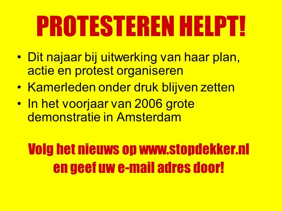 PROTESTEREN HELPT.