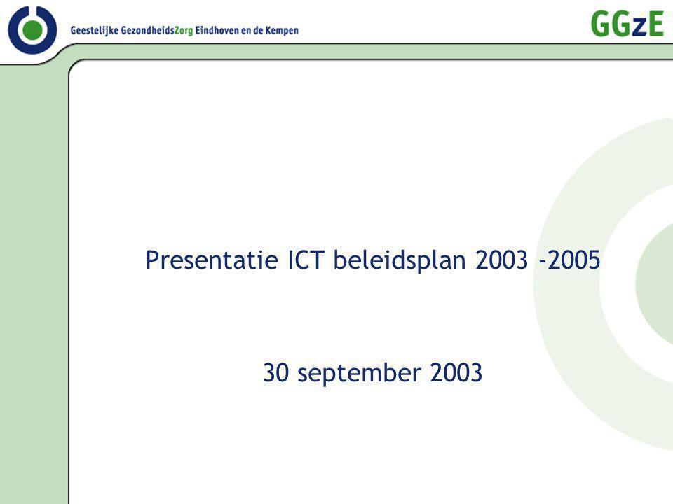 Presentatie ICT beleidsplan 2003 -2005 30 september 2003