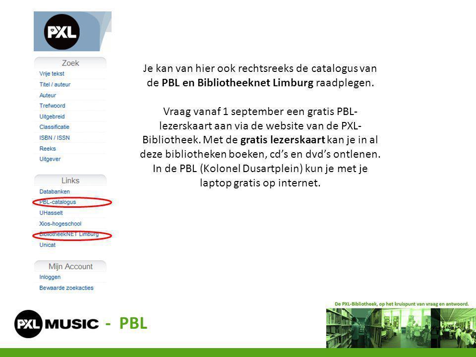 Je kan van hier ook rechtsreeks de catalogus van de PBL en Bibliotheeknet Limburg raadplegen. Vraag vanaf 1 september een gratis PBL- lezerskaart aan