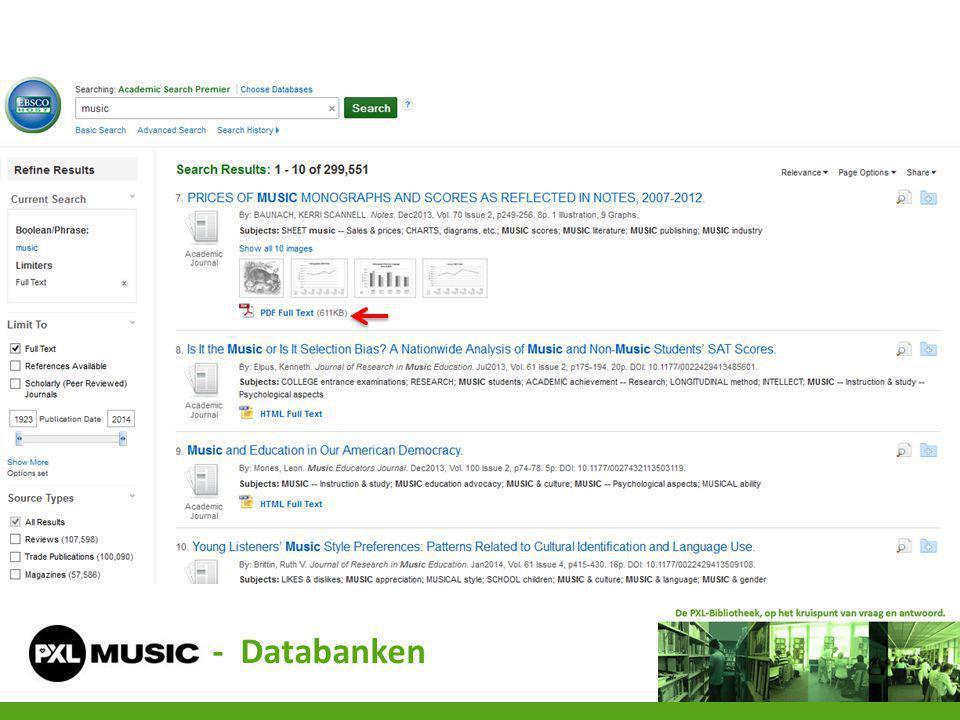 - Databanken