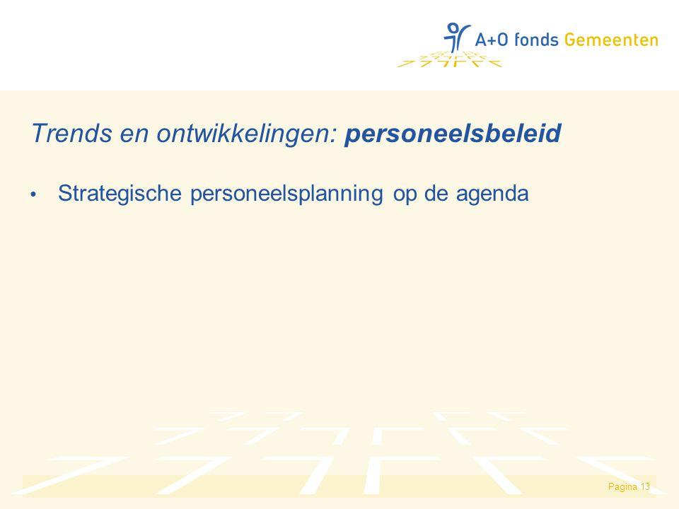 Pagina 13 Trends en ontwikkelingen: personeelsbeleid Strategische personeelsplanning op de agenda