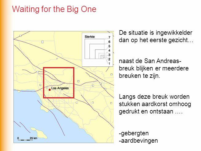 De situatie is ingewikkelder dan op het eerste gezicht… naast de San Andreas- breuk blijken er meerdere breuken te zijn. Langs deze breuk worden stukk