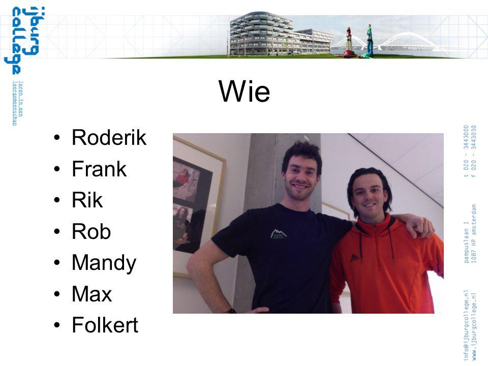 Wie Roderik Frank Rik Rob Mandy Max Folkert