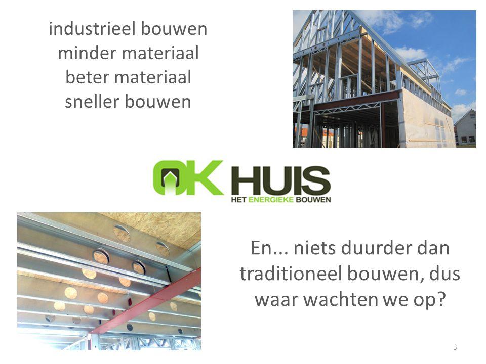 industrieel bouwen minder materiaal beter materiaal sneller bouwen 3 En... niets duurder dan traditioneel bouwen, dus waar wachten we op?