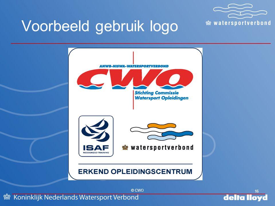 Voorbeeld gebruik logo 16 © CWO