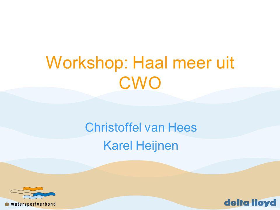 Workshop: Haal meer uit CWO Christoffel van Hees Karel Heijnen