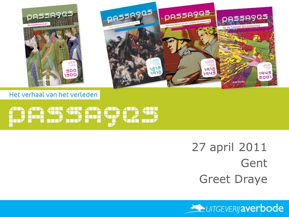 Datum Locatie Publiek spreker 27 april 2011 Gent Greet Draye