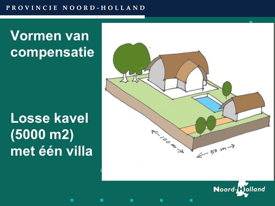 Vormen van compensatie Losse kavel (5000 m2) met één villa
