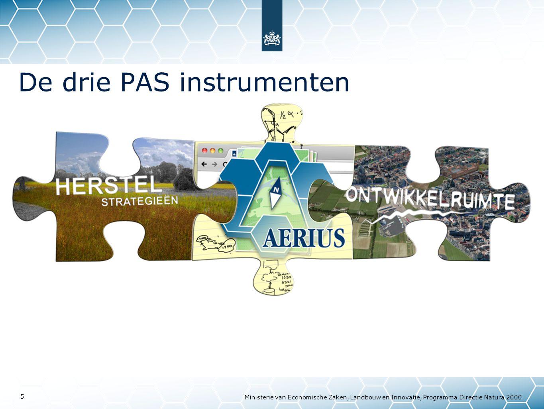 Ministerie van Economische Zaken, Landbouw en Innovatie, Programma Directie Natura 2000 5 De drie PAS instrumenten