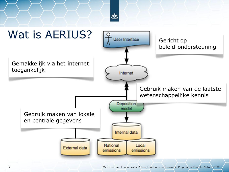 Ministerie van Economische Zaken, Landbouw en Innovatie, Programma Directie Natura 2000 8 Wat is AERIUS.
