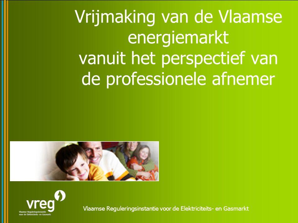 Vlaamse Reguleringsinstantie voor de Elektriciteits- en Gasmarkt Vrijmaking van de Vlaamse energiemarkt vanuit het perspectief van de professionele af