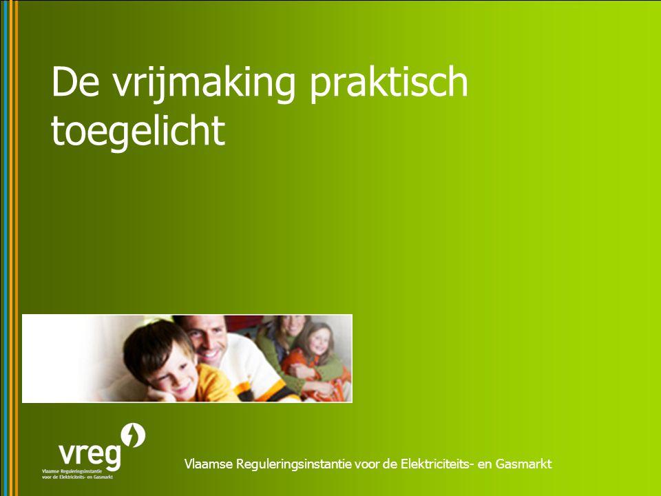 Vlaamse Reguleringsinstantie voor de Elektriciteits- en Gasmarkt De vrijmaking praktisch toegelicht