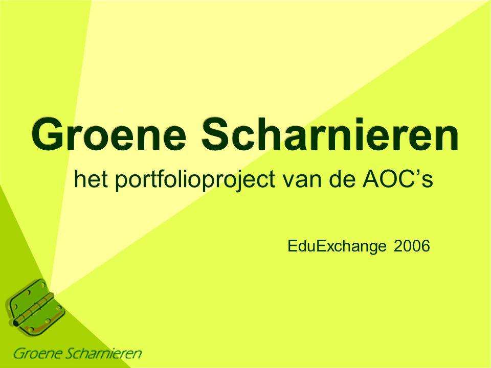 het portfolioproject van de AOC's EduExchange 2006 Groene Scharnieren