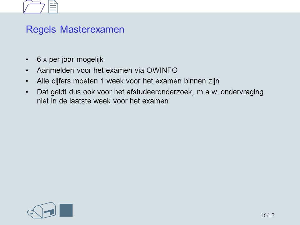 1212 /n 17/17 Onderwijs en ExamenRegeling (OER) Hierin staan alle opleidingseisen Iedere opleiding heeft zijn eigen OER Zijn te vinden op www.phys.tue.nl/nl/onderwijs/reglementen Hier staan ook de examenreglementen van de opleidingen Aanvullende regels staan in de opleidingsgids: www.phys.tue.nl/nl/onderwijs