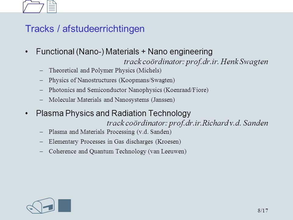 1212 /n 9/17 Tracks / afstudeerrichtingen Physics of Transports in Fluids trackcoördinator: prof.dr.ir.